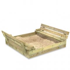 SandSeat sandlåda med gångjärnslock