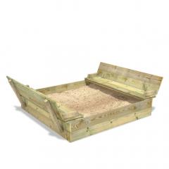 SandSeat XL Sandlåda med gångjärnslock